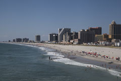 Atlantic City strand Arkivfoton