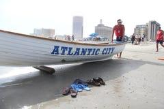 Atlantic City strand Fotografering för Bildbyråer