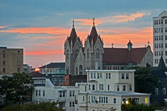 Atlantic city sun set Royalty Free Stock Images