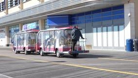 Atlantic City Tram. A tram on the boardwalk in Atlantic City, New Jersey stock video footage