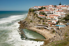 Atlantic Cliff Village, Portugal Royalty Free Stock Image