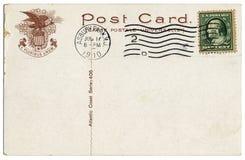 Atlantic Coast 1910 Postcard Royalty Free Stock Photography