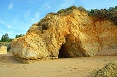 Atlantic coast. In the Algarve in portugal Royalty Free Stock Image