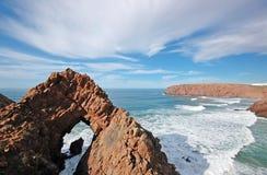 Atlantic coast. Africa. Rocks by the ocean. Atlantic coast. Africa. Morocco Stock Images