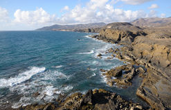 Atlantic coast of Canary Island Fuerteventura Royalty Free Stock Image