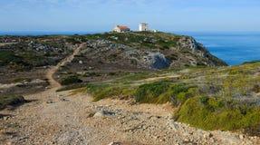 The Atlantic coast, cape Espichel, Portugal Royalty Free Stock Photos