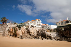 Atlantic coast, Cascais city, Portugal. Homes on Atlantic ocean coast in Cascais city, Portugal Stock Image