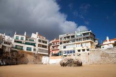 Atlantic coast, Cascais city, Portugal. Royalty Free Stock Photos