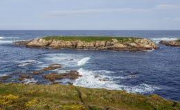Atlantic Coast in Corunna Spain, Illa do Pe Royalty Free Stock Image