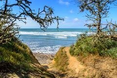 Atlantic coast at Jard-sur-Mer, Vendee, france Royalty Free Stock Images
