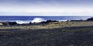 Atlantic coast - Los Cocoteros, Lanzarote, Canary Islands royalty free stock photography