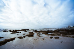 Atlantic coast at low tide near Cascais. tinted Royalty Free Stock Photography