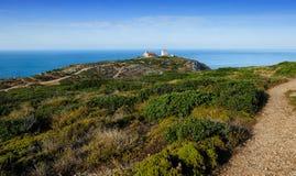The Atlantic coast near cape Espichel, Portugal Royalty Free Stock Image