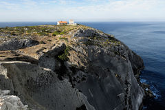 The Atlantic coast near cape Espichel, Portugal Royalty Free Stock Photo