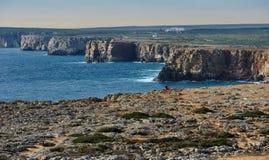 Atlantic coast near Fortaleza de Sagres, Portugal Stock Image