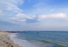 Atlantic coast. Panoramic view of beach and Atlantic ocean in Hyannis town, Cape Cod, Massachusetts, USA Stock Photo
