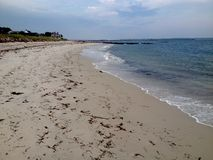Atlantic coast. Panoramic view of beach and Atlantic ocean in Hyannis town, Cape Cod, Massachusetts, USA Stock Photography