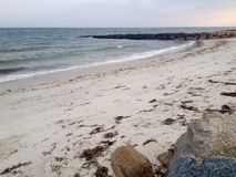 Atlantic coast. Panoramic view of beach and Atlantic ocean in Hyannis town, Cape Cod, Massachusetts, USA Stock Image