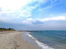Atlantic coast. Panoramic view of beach and Atlantic ocean in Hyannis town, Cape Cod, Massachusetts, USA Stock Images