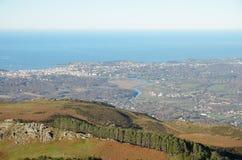 Atlantic coast in the Pays Basque Stock Image