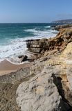 Atlantic coast in Portugal Royalty Free Stock Photo