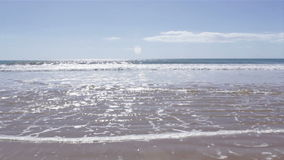 Atlantic coast at Rocha Baixinha Beach. Low tide seascape stock footage