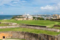 Atlantic coast in San Juan, Puerto Rico stock photos