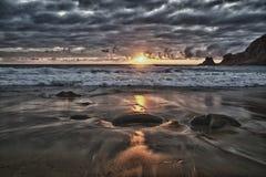 Atlantic coast scape royalty free stock photo
