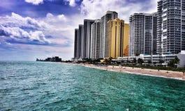 Atlantic coast in southeast Florida royalty free stock photography