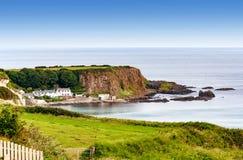 Steep cliff at the Atlantic coast in Northern Ireland, UK royalty free stock photo