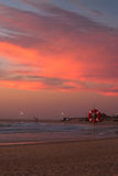 Atlantic coast at sunset, Portugal Stock Images