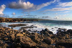 Atlantic coastline. Irish coast in Fanore - Co. Clare Royalty Free Stock Images
