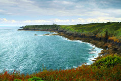 Atlantic coastline in Brittany Stock Images