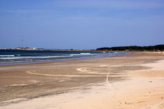 Atlantic coastline, La Paloma, Uruguay Stock Photography