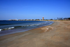 Atlantic coastline, La Paloma, Uruguay Royalty Free Stock Image