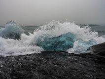 Iceberg on Atlantic coasts Stock Image