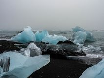 Icebergs on Atlantic coasts Royalty Free Stock Photos