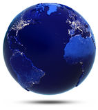 Atlantic continent and countries Royalty Free Stock Image