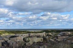 Atlantic Highlands, NJ - Sandy Hook Beach imagem de stock royalty free