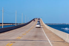 Atlantic intracoastal and highway us1. Florida Keys interstate. Royalty Free Stock Images