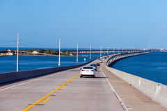 Atlantic intracoastal and highway us1. Florida Keys interstate. On the way to Key West in the sunshine state Florida Stock Photography