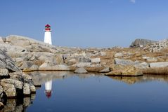 Atlantic Lighthouse 2. This image was taken in Nova Scotia, Canada at Peggy's Cove Stock Images