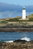 Atlantic lighthouse. Godrevy lighthouse, St Ives Bay, Cornwall. Built in 1859 the light is now unmanned and solar powered Royalty Free Stock Photography
