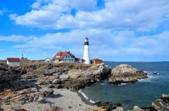 Atlantic lighthouse Royalty Free Stock Image
