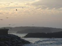Atlantic Ocean över solnedgång arkivfoto