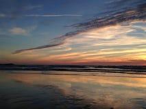 Atlantic Ocean över solnedgång Fotografering för Bildbyråer