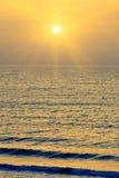 Atlantic Ocean över soluppgång Fotografering för Bildbyråer