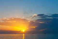 Atlantic Ocean над восходом солнца Стоковая Фотография RF