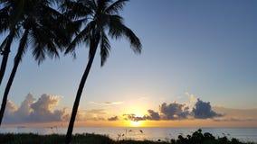 Atlantic Ocean над восходом солнца Стоковое фото RF