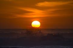 Atlantic Ocean над заходом солнца Стоковые Фото